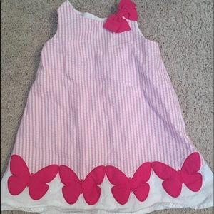 EUC Gymboree Seersucker Dress Size:  18-24M